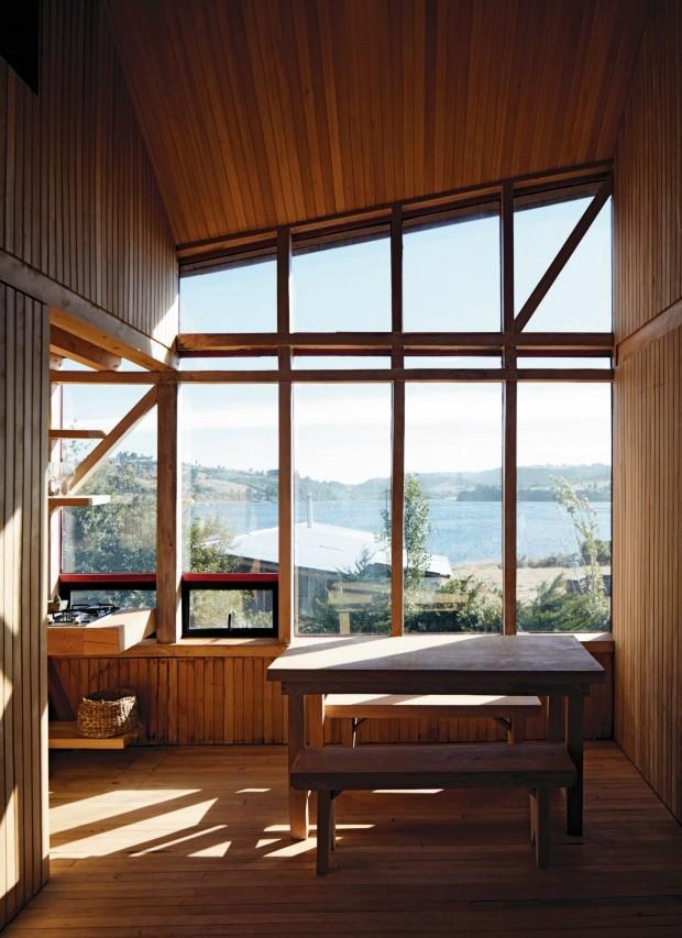Casa no Chile tem arquitetura pensada para as mudanças climáticas (Foto: Cristóbal Palma)