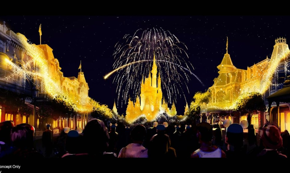 """""""Disney Enchantment"""" é o novo show do Magic Kingdom — Foto: Divulgação"""