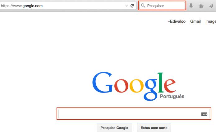 Acessando o Google para fazer uma busca (Foto: reprodução/Edivaldo Brito)