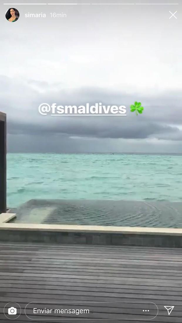 Resort em que Simaria está hospedada nas Maldivas (Foto: Reprodução/Instagram)