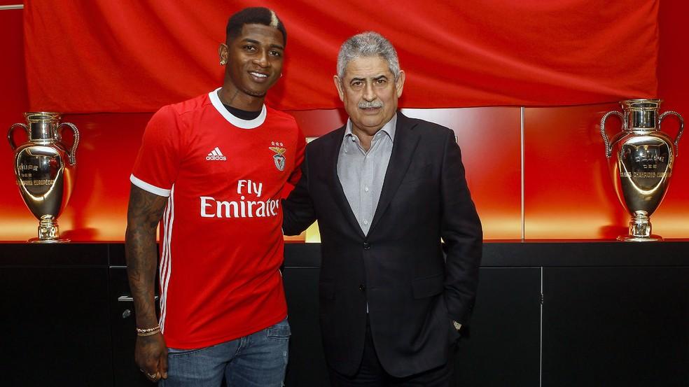 Yony González é apresentado no Benfica — Foto: João Paulo Trindade / SL Benfica