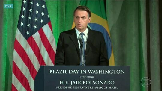 Ontem, Bolsonaro defendeu parceria com os EUA e disse contar com o país para resolver situação da Venezuela