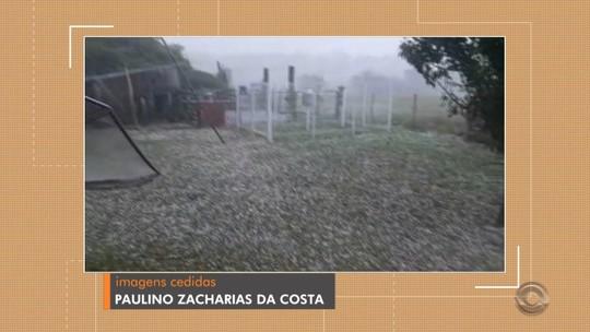 Chuva de granizo é registrada em Itaqui