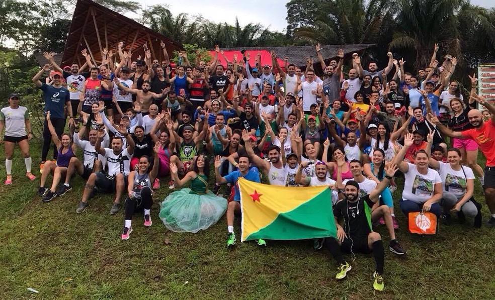 Grupo de Corrida Amigos da Solidariedade  (Foto: Tico Lima/arquivo pessoal)