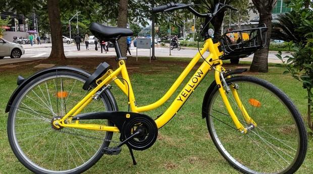 Bike da Yellow, que promete instalar 100 mil bicicletas em São Paulo até 2019 (Foto: Divulgação)