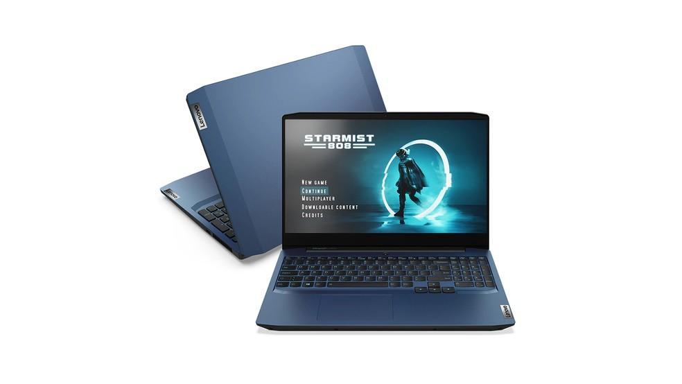 Gaming 3i (foto), assim como o L340, é um notebook gamer com visual mais comportado — Foto: Divulgação/Lenovo