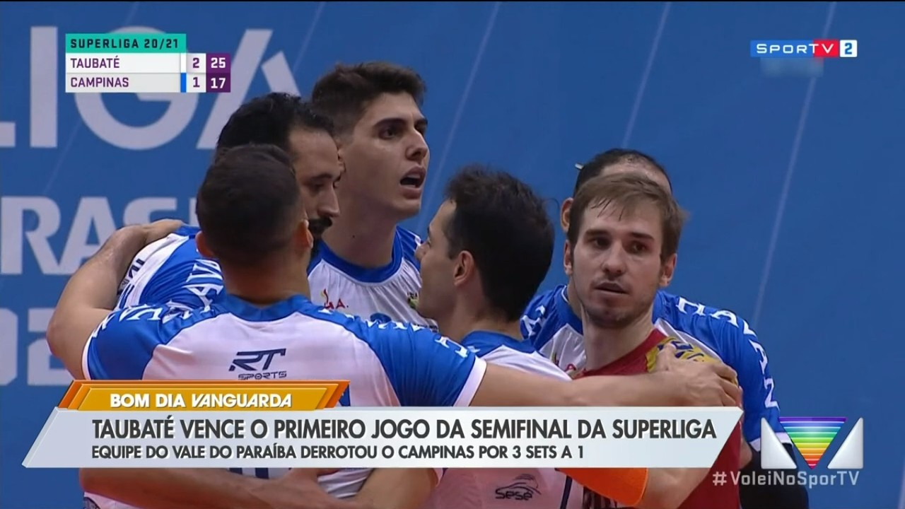 Taubaté vence Campinas e larga na frente na semifinal da Superliga