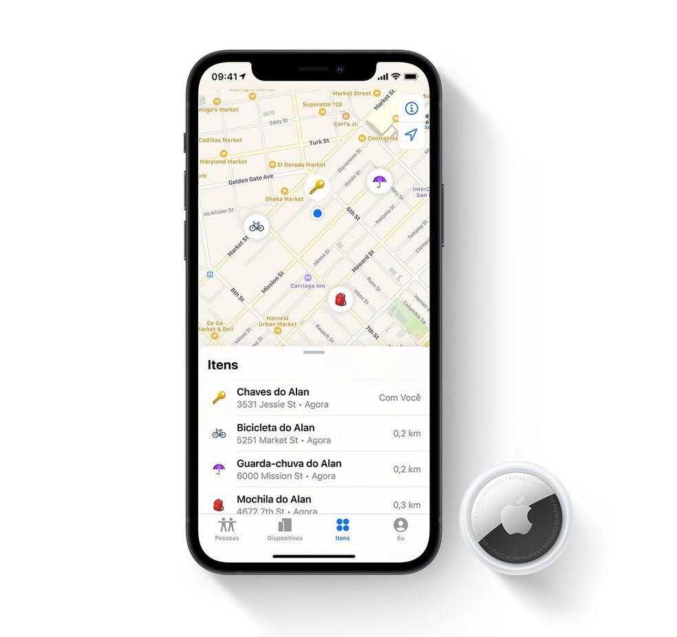 Apple assegura privacidade de dados nos AirTags — Foto: Divulgação/Apple