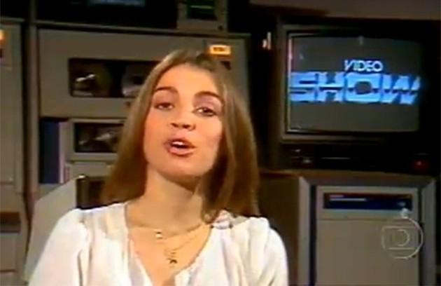 'Video show', que estreou na Globo em 1983, chegará ao fim na sexta-feira. Tássia Camargo foi a primeira apresentadora (Foto: Reprodução)
