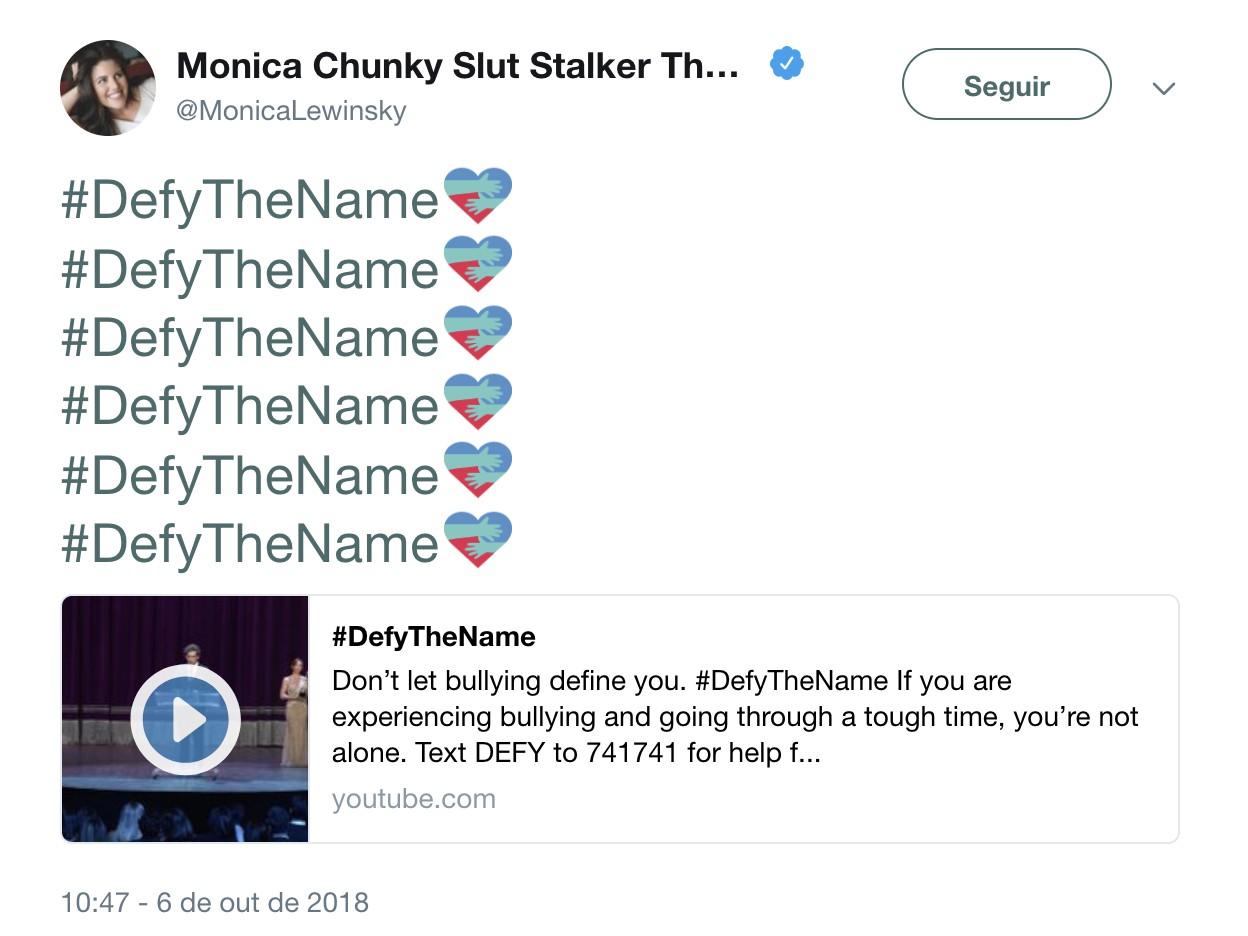 Mônica mudou o seu nome no Twitter como parte da campanha #DefyTheName (Foto: Divulgação)