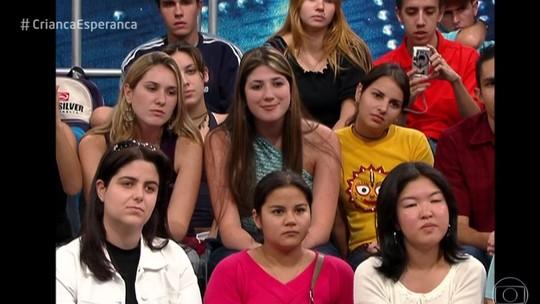 Dani Calabresa aparece em vídeo inédito antes da fama na plateia do 'Altas Horas'