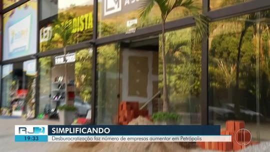 Desburocratização faz número de empresas aumentar em Petrópolis