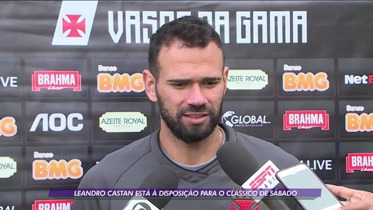 Leandro Castan está à disposição para o clássico contra o Fluminense