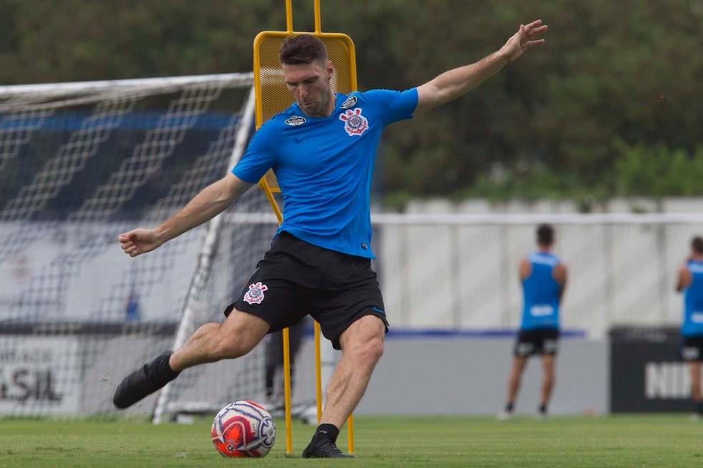Mauro Boselli é um dos oito reforços do Corinthians para 2019 — Foto: Daniel Augusto Jr/Ag Corinthians