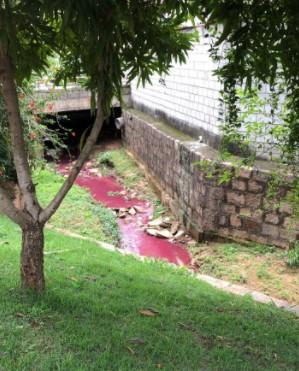 Morungaba apura causa de água vermelha em ribeirão