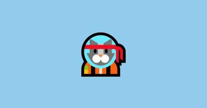 Emoji do Astro Cat está disponível apenas para Windows 10 — Foto: Reprodução/Emojipedia