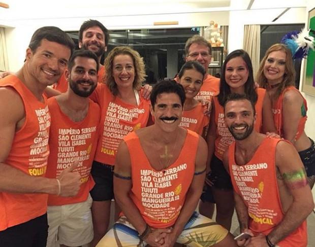 Reynaldo Gianecchini com amigos  (Foto: Reprodução/Instagram)