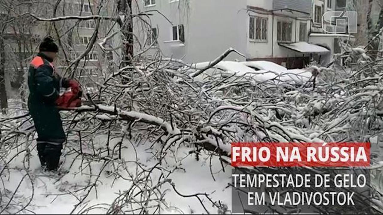 Tempestade de gelo deixa milhares de pessoas sem luz em Vladivostok, Na Rússia