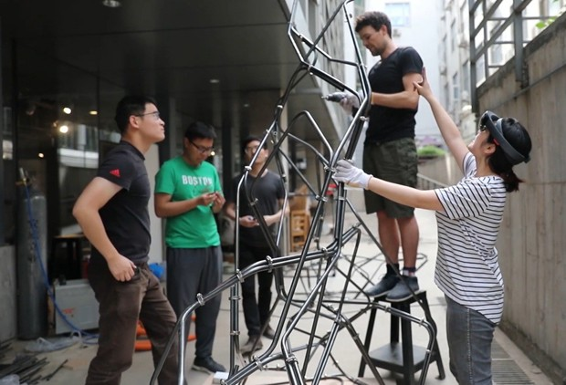 Realidade aumentada na arquitetura: startup cria primeira estrutura do mundo em aço (Foto: Reprodução)