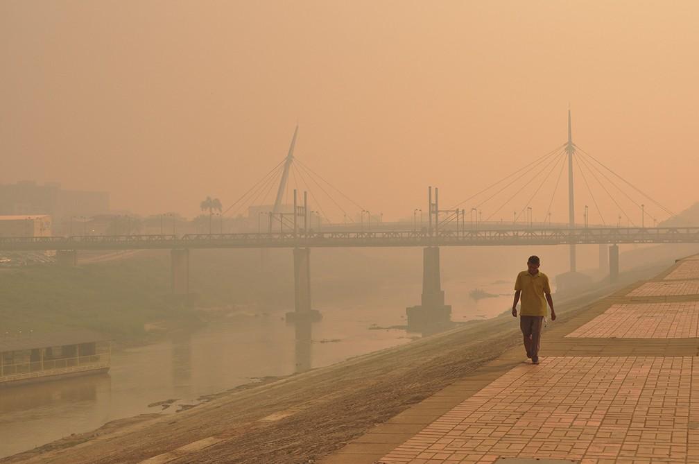 Nível de poluição no ar é oito vezes maior que o indicado pela OMS  — Foto: Juan Diaz/Arquivo Pessoal