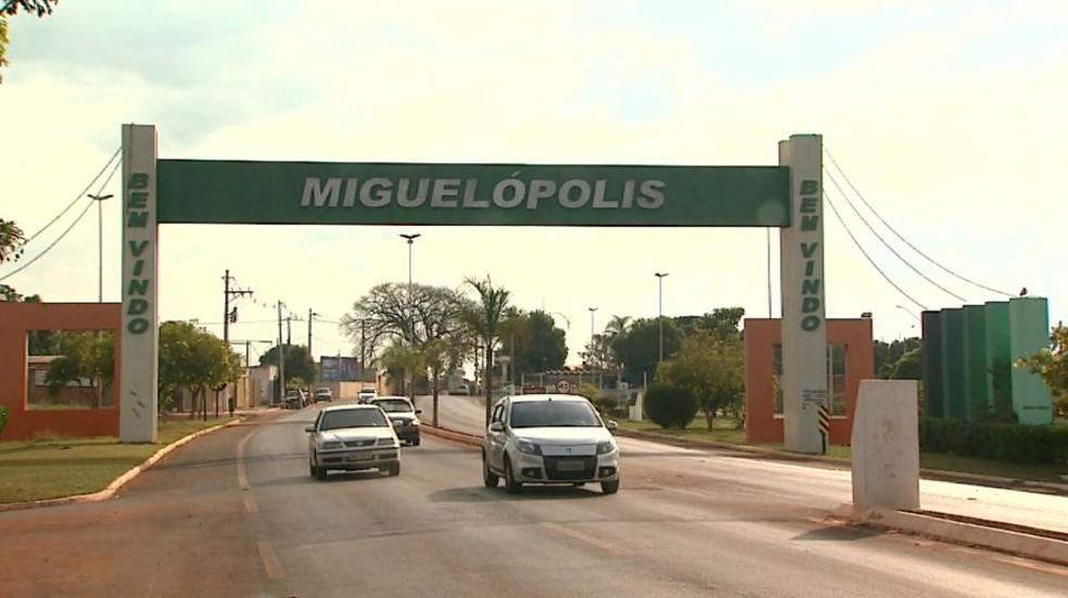 Entrada de Miguelópolis, na região de Ribeirão Preto (SP) (Foto: Reprodução/EPTV)