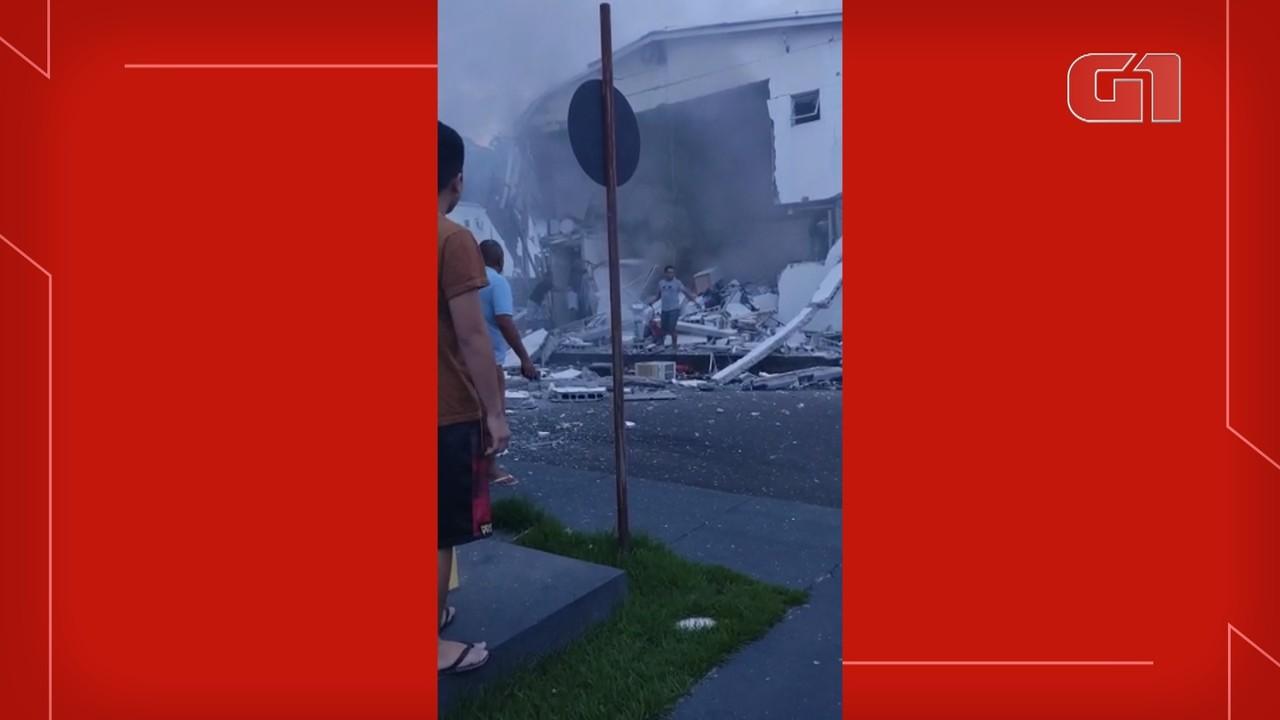 Explosão destrói apartamentos de condomínio em Manaus; VÍDEO