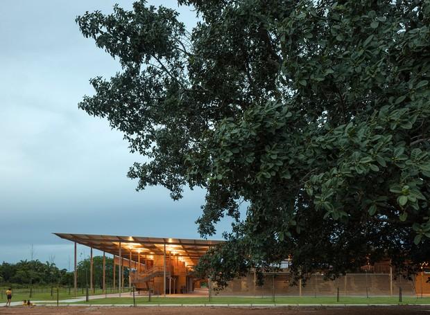 A escola fica localizada na Fazenda Canuanã, no Tocantins  (Foto: Leonardo Finotti/ Reprodução )