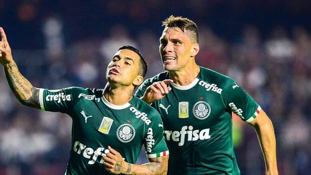 Dudu comemora em São Paulo x Palmeiras