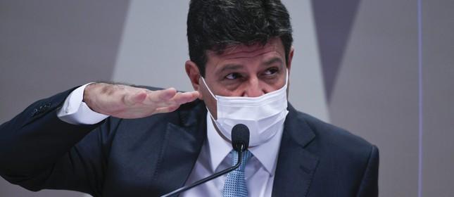 Ex-ministro de Estado da Saúde, Luiz Henrique Mandetta, na CPI da Covid