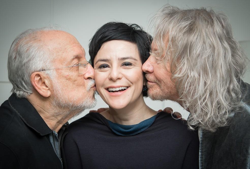 Roberto Menescal, Fernanda Takai e Marcos Valle (Foto: Divulgação / Quinho Mibach)