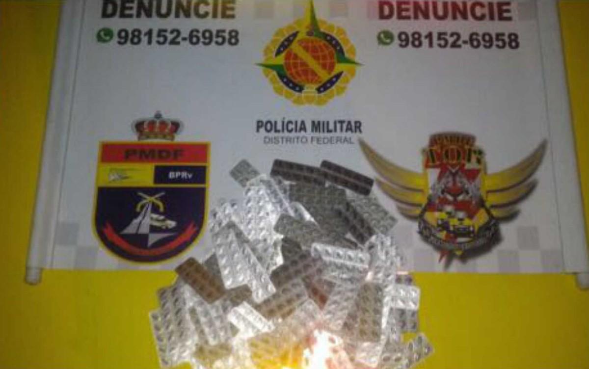Adolescente é detido com moto e mil comprimidos de roupinol no DF