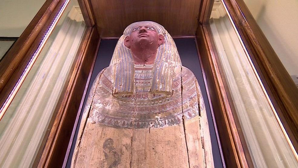 Múmia misteriosa do castelo de Chiddingstone (Foto: BBC)