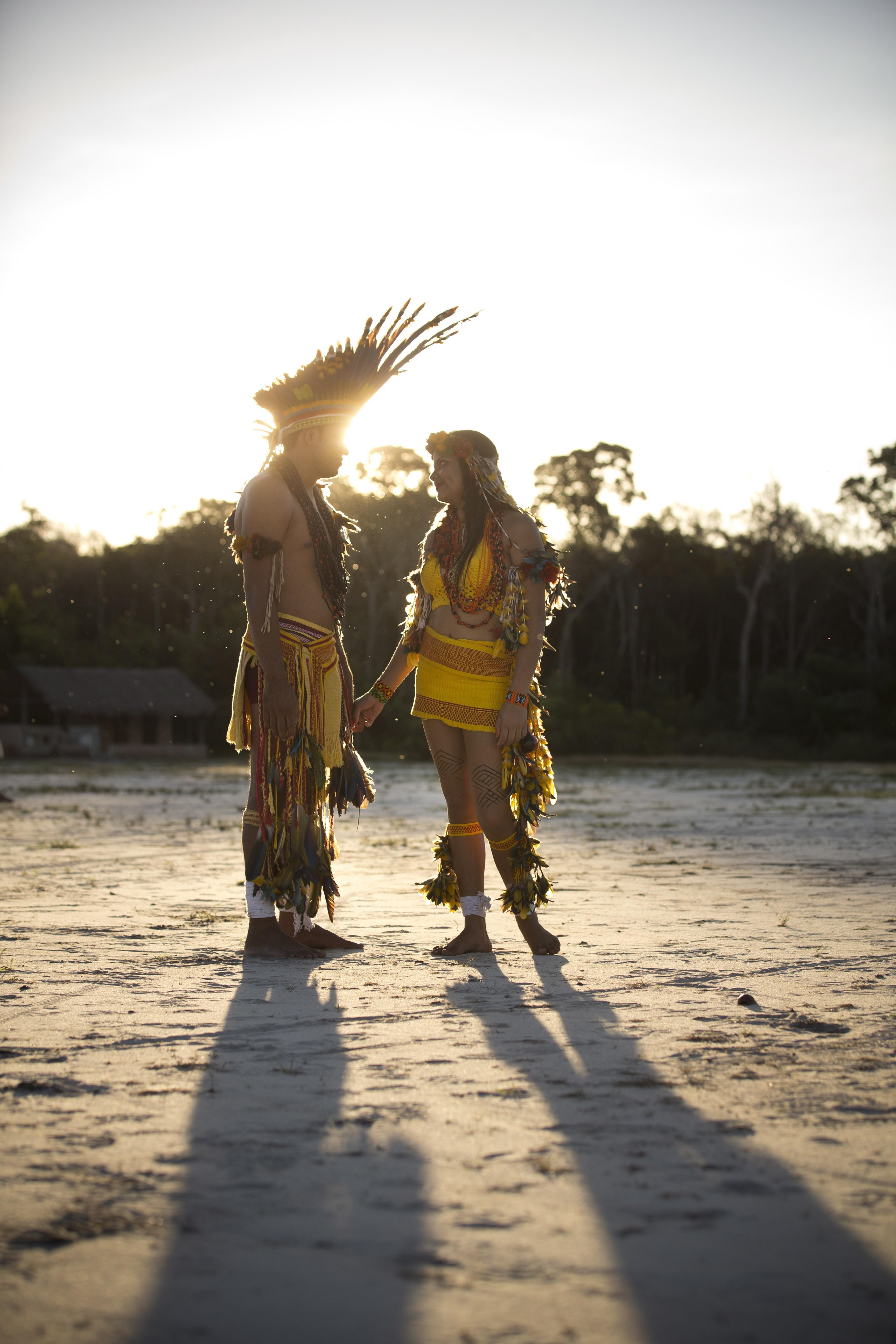 Indígenas da tribo Parecis, no Mato Grosso