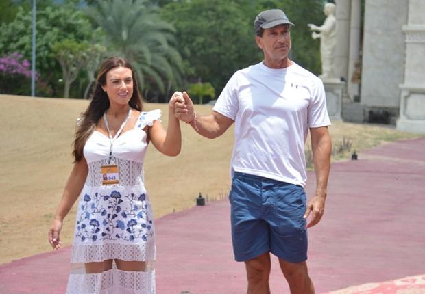 Nicole Bahls e Victor Fasano (Foto: Felipe Souto Maior/AgNews)
