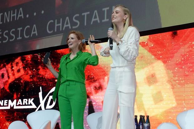 Jessica Chastain e Sophie Turner (Foto: Francisco Cepeda/AgNews)