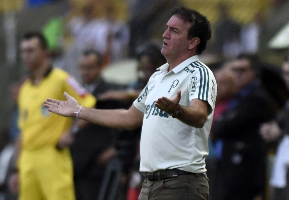 Cuca, técnico do Palmeiras, durante o jogo contra o Vasco, em Volta Redonda (Foto: André Durão)