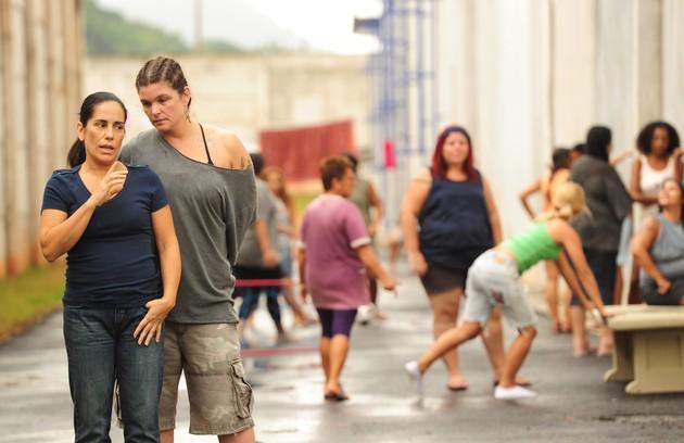 'Insensato coração': Gloria em cena com Cristiana Oliveira (Foto: João Miguel Júnior/TV Globo)
