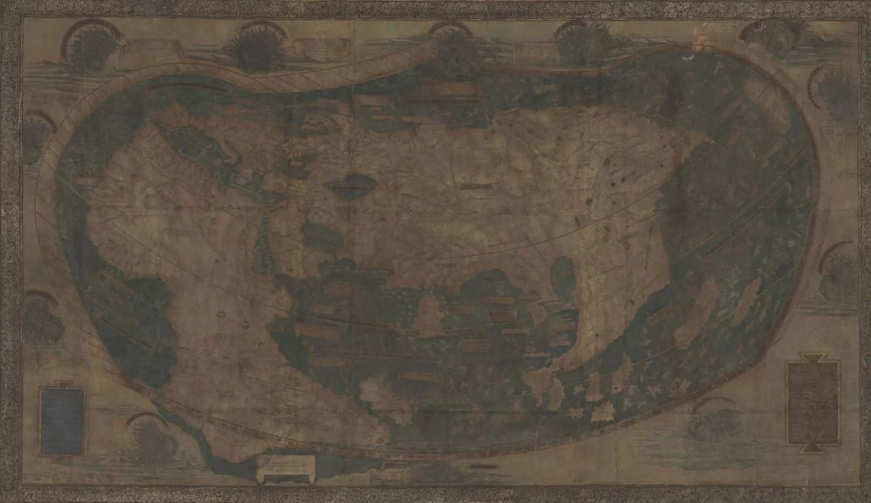 Mapa original de 1491 (Foto: Divulgação)