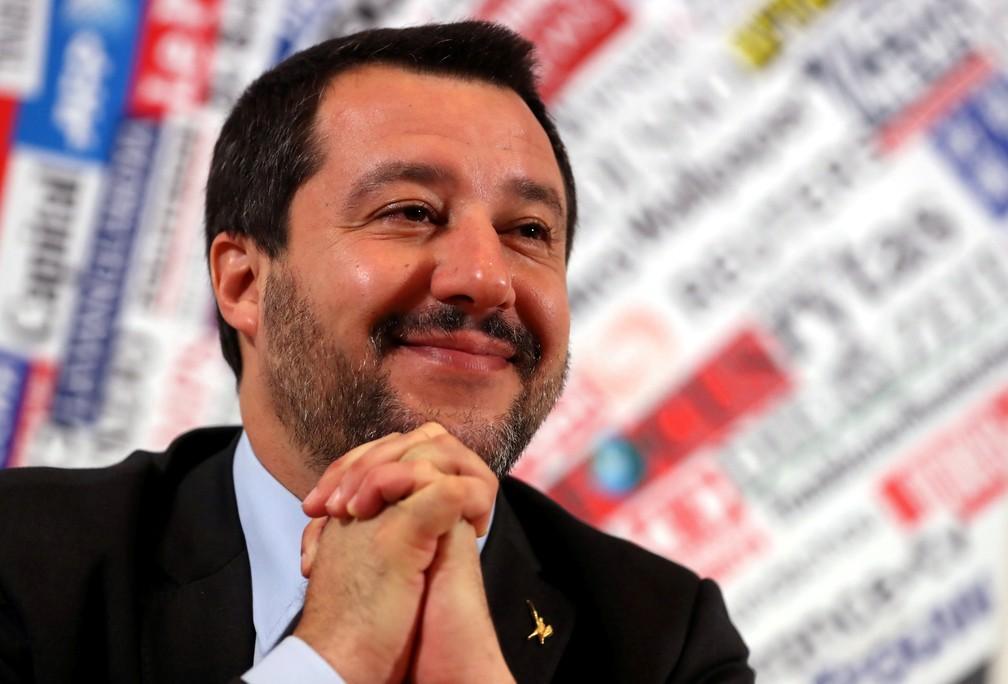 Matteo Salvini, ministro do Interior da Itália — Foto: Tony Gentile/File Photo/Reuters