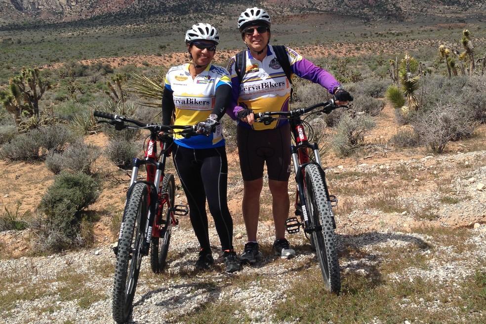 Casal também já fez um tour pelo deserto de Nevada, em Las Vegas (Foto: Arquivo pessoal)