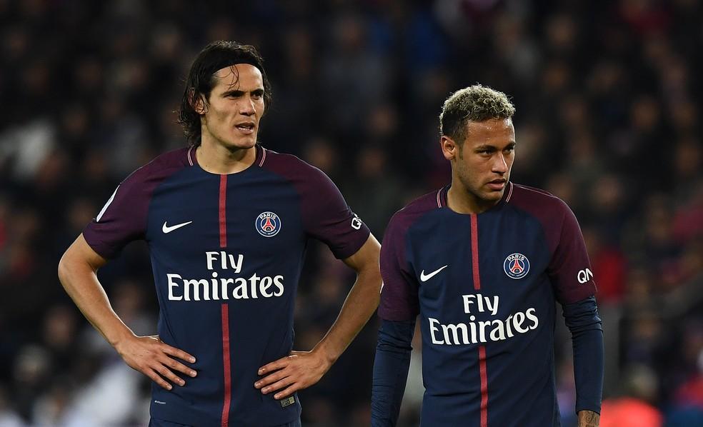 Cavani e Neymar: crise no PSG? (Foto: Franck Fife/AFP)