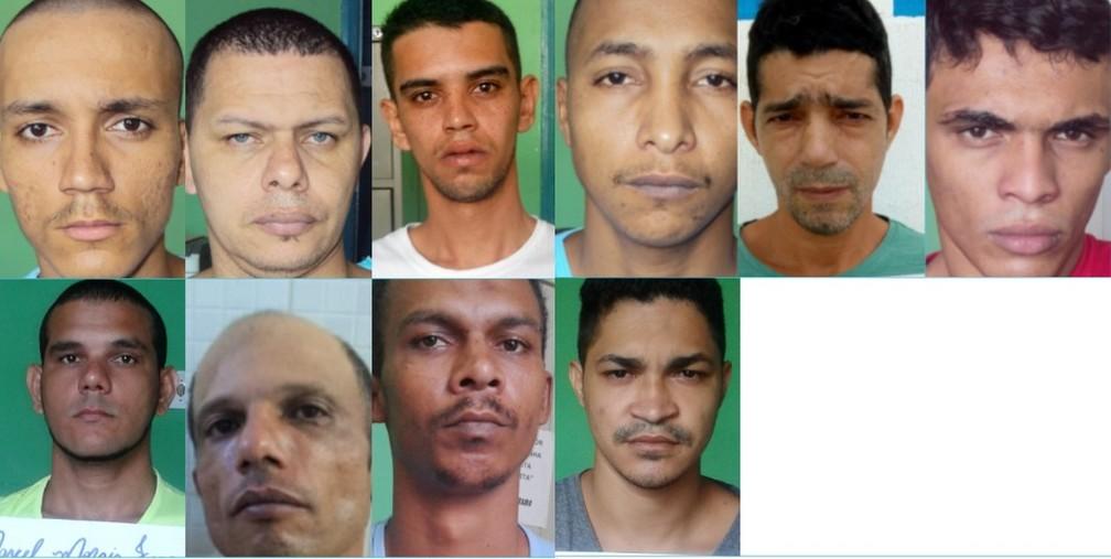 Presos foragidos de Ji-Paraná, RO — Foto: Sejus/Divulgação