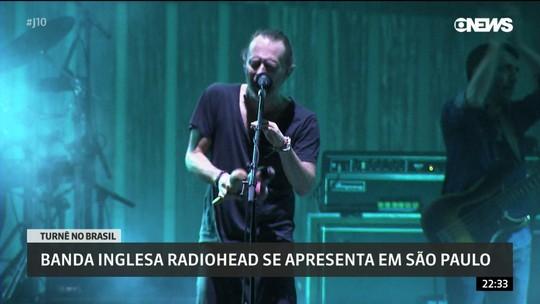 Radiohead faz apresentação em São Paulo