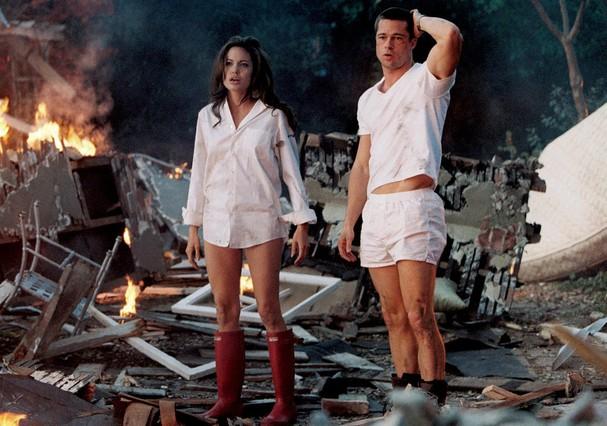 """Cena do filme """"Sr. e Sra. Smith"""" (Foto: Reprodução )"""