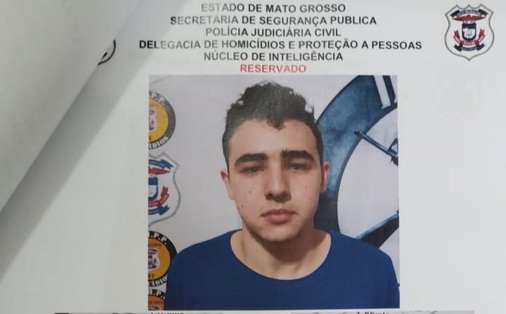 Gabriel Brito Gabiato Pires — Foto: Polícia Civil de Mato Grosso/Assessoria