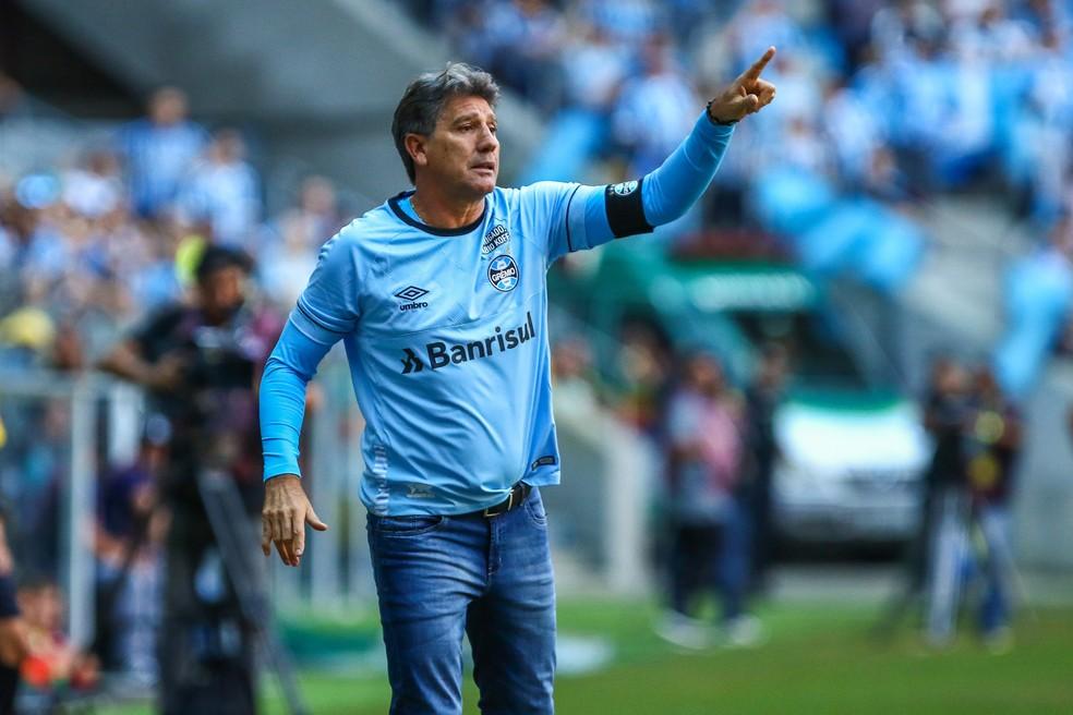 Renato Gaúcho reclamou da postura do Inter na Arena (Foto: Lucas Uebel / Grêmio / Divulgação)