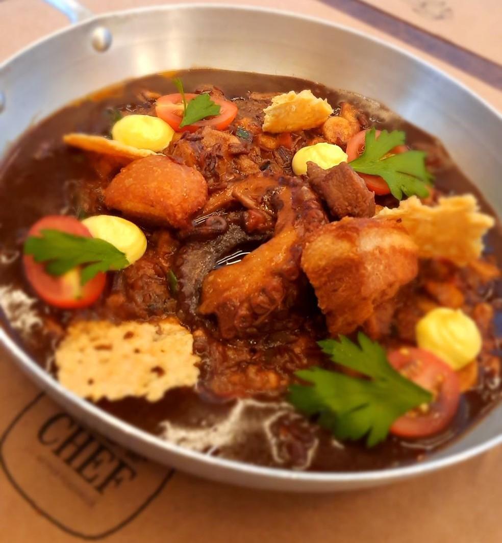 Arroz selvagem caldoso — Foto: Casa do Chef