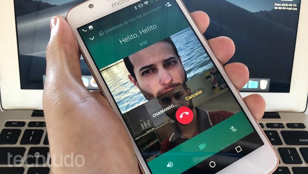 WhatsApp Beta para Android permite fazer ligações de áudio e vídeo em grupo ? Foto: Helito Beggiora/TechTudo