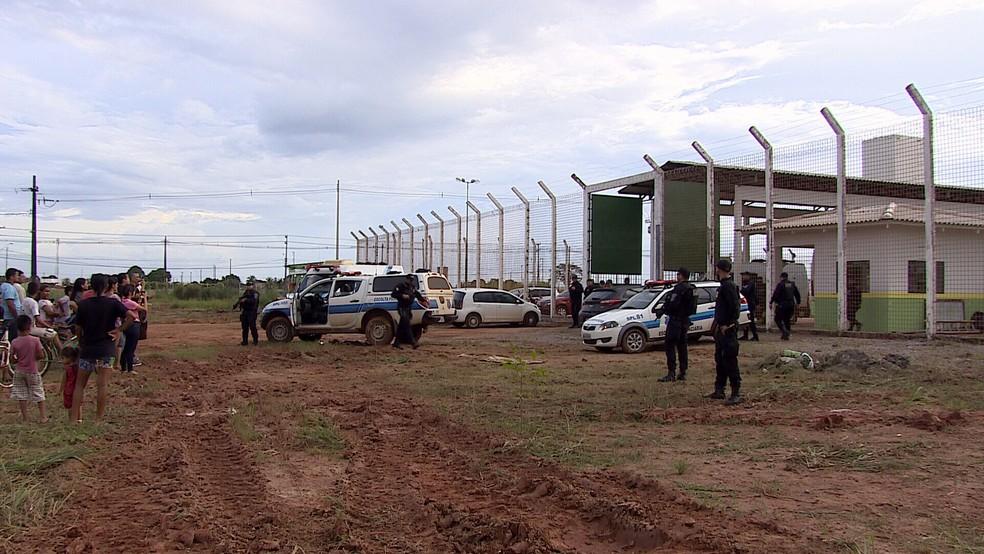 Nova unidade prisional recebeu presas durante a tarde e noite (Foto: Rede Amazônica/Reprodução)