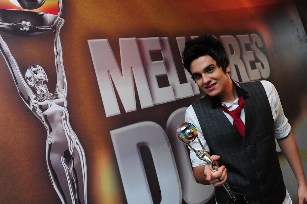 Na premiação Melhores do Ano, ele foi vencedor das categorias Melhor Cantor e Melhor Música do Ano. Isso sem contar as outras edições. (Foto: Marcio Nunes/Globo)